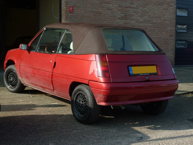 Renault 5 EBS, softtop Sonnenland Classic bruin